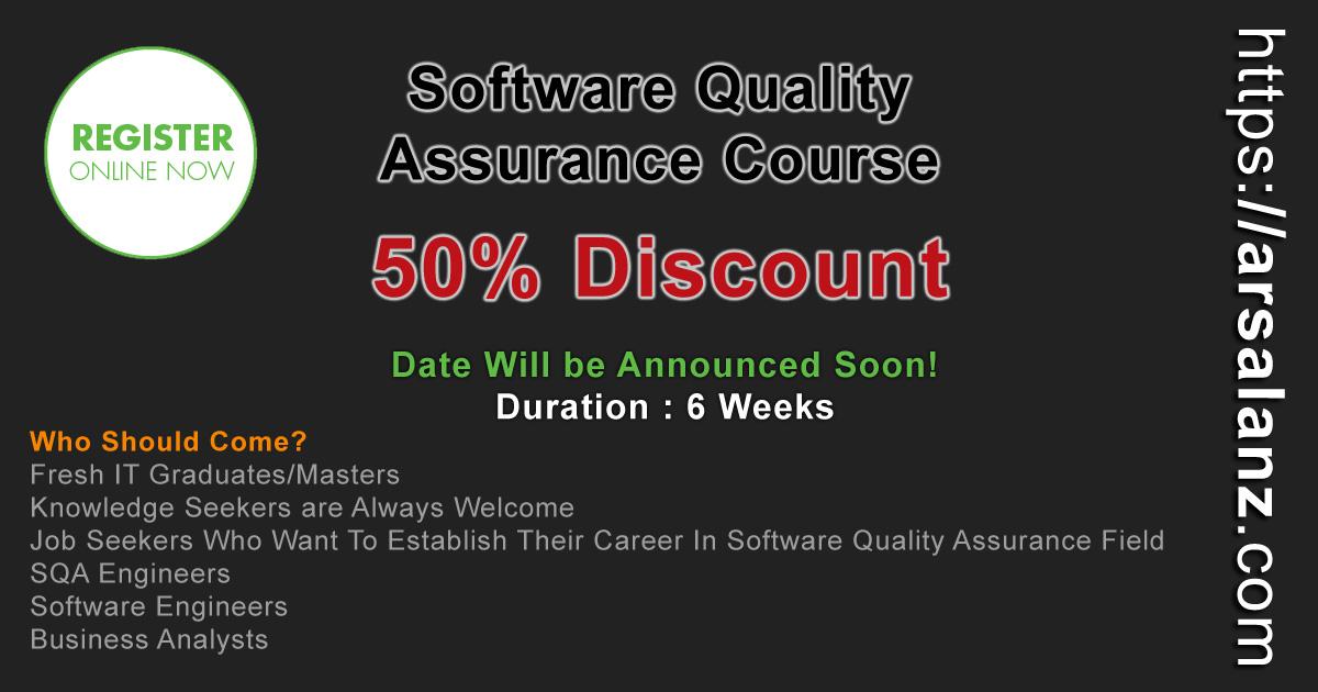 SQA-Banner Arsalan Qureshi IT Trainer
